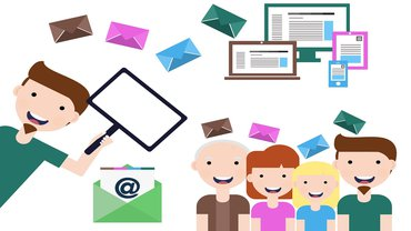 News Newsletter E-Mail Team Illustration